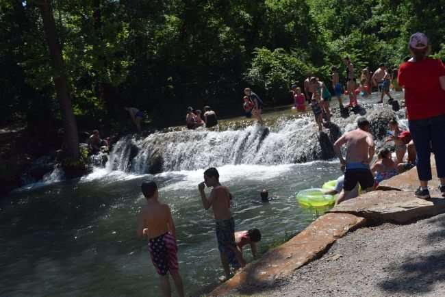 Little Niagara at Chickasaw National Recreation Area is a perfect destination for water fun and tubing.