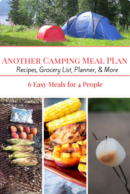 Another Camping Meal Plan Meals And Recipes For Your Next Weekend Campout