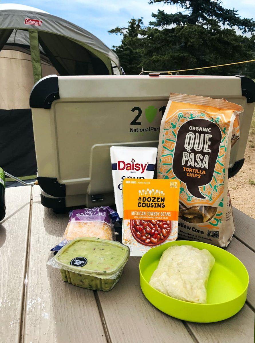 camping nacho ingredient - cooking