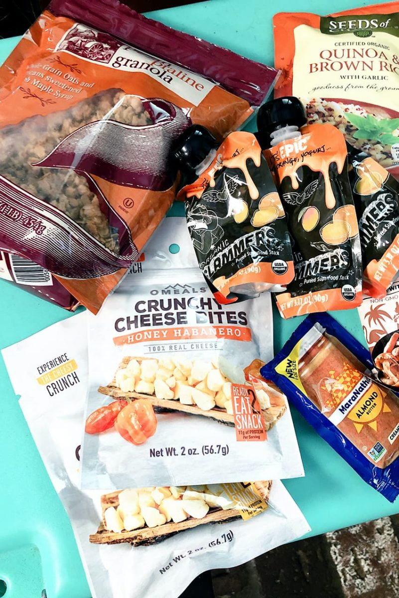 Camping snacks and meals