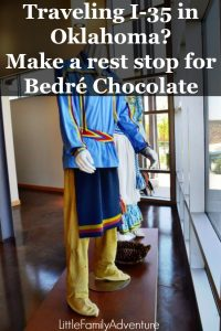 Chocolate covered potato chips - Traveling along I-35 between Dallas and Oklahoma City? Make a rest stop for Bedre Chocolate and the Chickasaw Nation Welcome Center in Davis, Oklahoma at mile marker 55. #adventureroad #chocolatefactory #travelfood #roadtrip