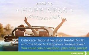 Road to Happiness Sweepstakes - Celebrate National Vacation Rental Month- 7 Tips for Vacationing on a Budget