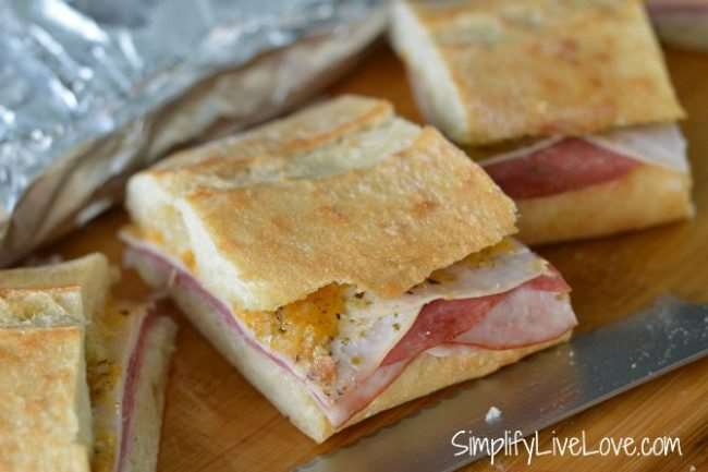 Easy Oven Sandwich from Simplify, Live, Love