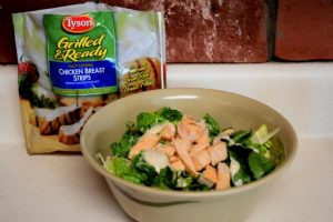 Make any Caesar salad into a tasty Chicken Caesar Salad Wrap