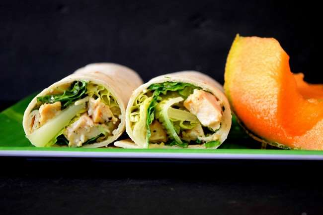 Chicken Caesar Salad Wrap