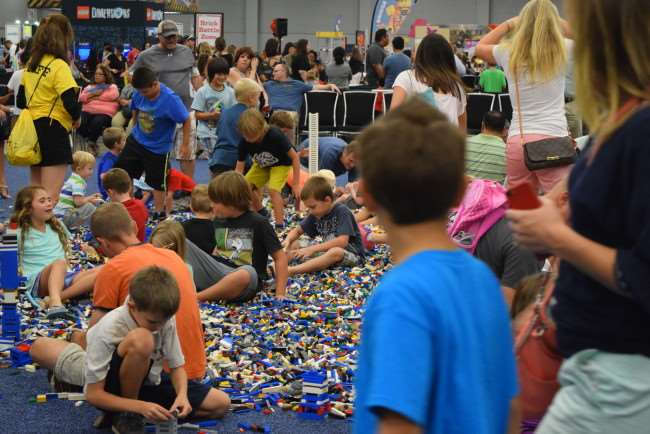 There's no place like LEGO KidsFest - Giant LEGO Brick Pile