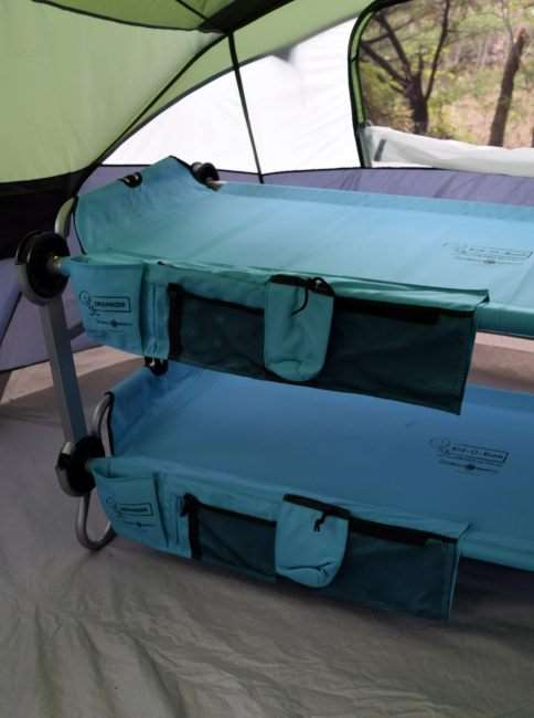 Kid-O-Bunk 3-in-1 sleep system from Disc O Bed. Perfect for camping, sleepovers, travel, and more.