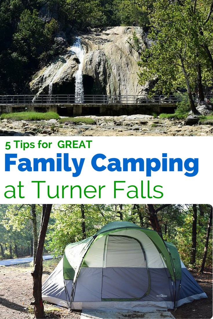 Camping at Turner Falls, Oklahoma