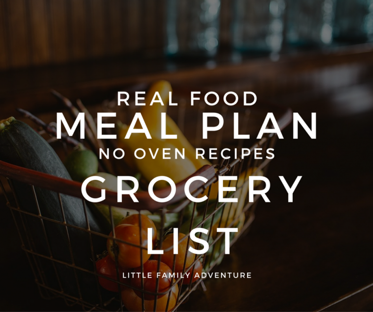 Real Food Meal Plan Grocery List