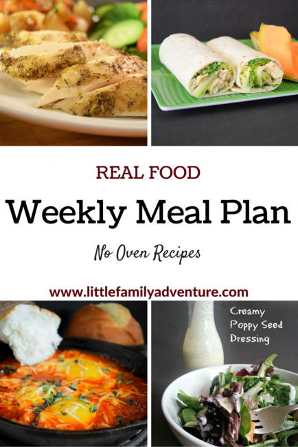 Real Food Meal Plan - No Oven Recipes