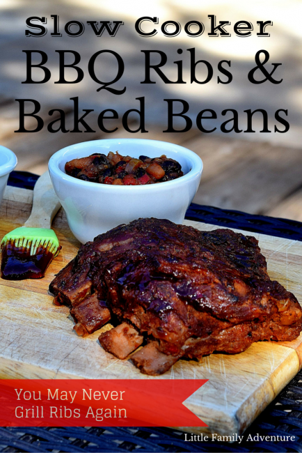 Crock Pot Ribs and Beans
