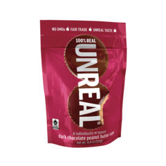 Dark Chocolate Peanut Butter Cups from Unreal Candy - - 15 of the Best Organic Snack Foods