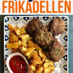 German frikadellen and potatoes