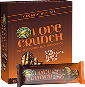 Dark Chocolate Peanut Butter Love Crunch Nut Bars -- 15 of the Best Organic Snack Foods