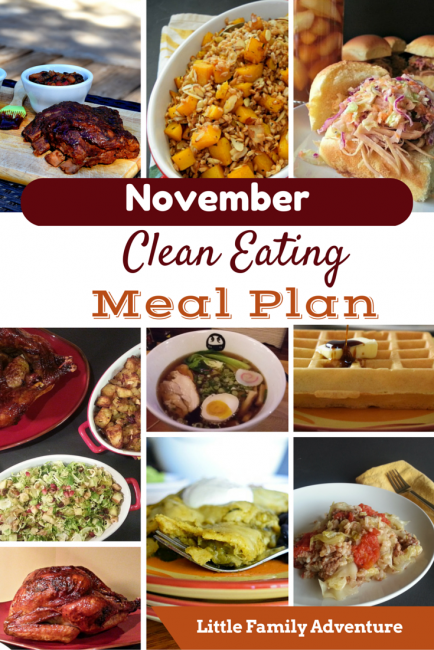 November Clean Eating Meal Plan will inspire and empower you to plan real food meals for you and your family.