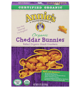 Organic Cheddar Bunny Crackers from Annie's Homegrown- 15 Best Organic Snack Foods