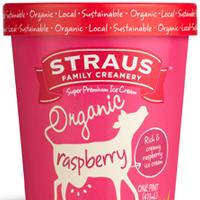 Raspberry Ice Cream from Straus Creamery