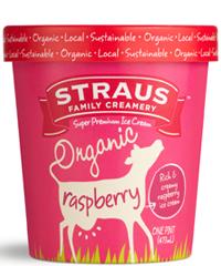 Organic Raspberry Ice Cream from Straus Creamery - 15 of the Best Organic Snack Foods