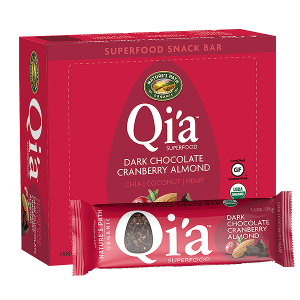 Qi'a Superfood Snack Bar – Dark Chocolate Cranberry Almond - 15 Best Organic Snack Foods