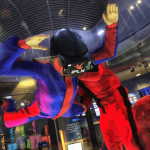 iFLY Indoor skydiving with VR headset