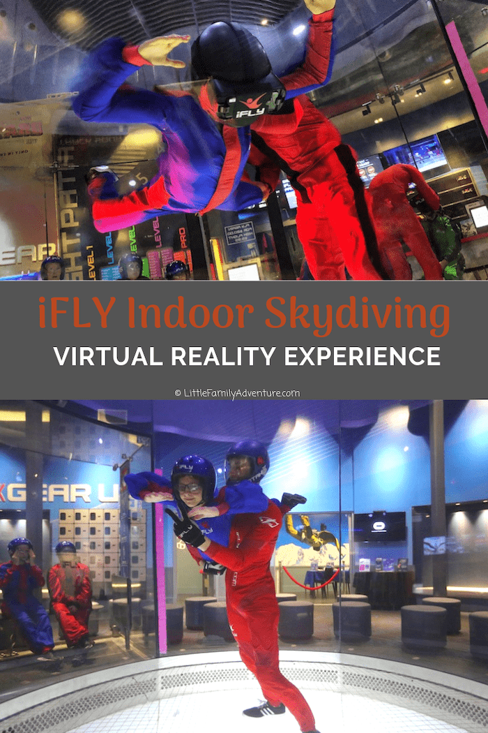 Get ready to go indoor skydiving and fly with dragons at iFLY. Here's everything you need to know about this unique VR experience and your next visit! #ifly #indoorskydiving #adventure #familyfun #virtualreality