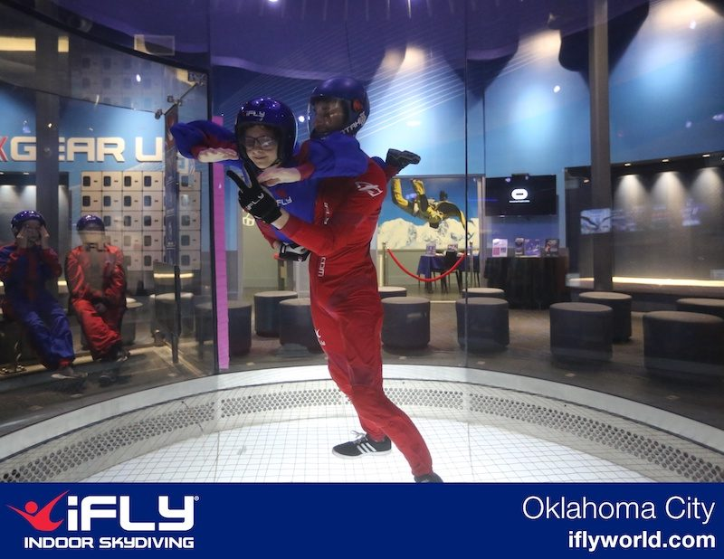 ifly Okc - bodyflier instructor and student