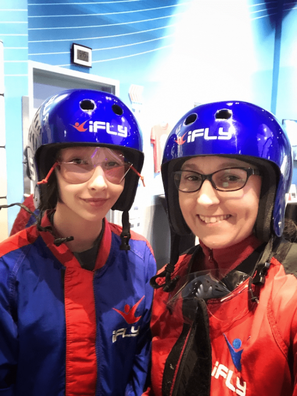 prepped for indoor skydiving