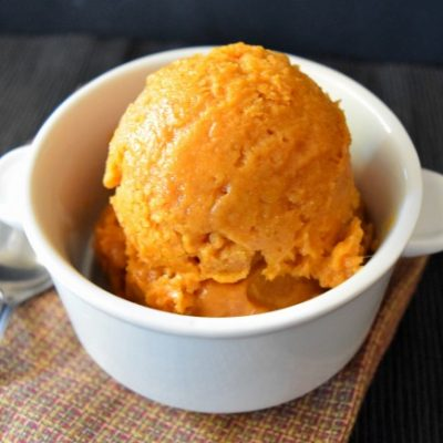 Easy Pumpkin Ice Cream (vegan)