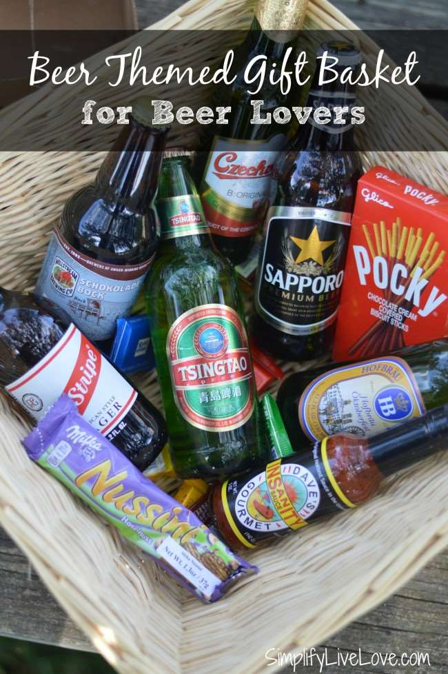 Beer Themed Gift Basket for Beer Lovers
