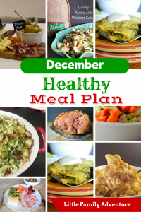 December Healthy Meal Plan - A month's worth of healthy dinners that are family friendly
