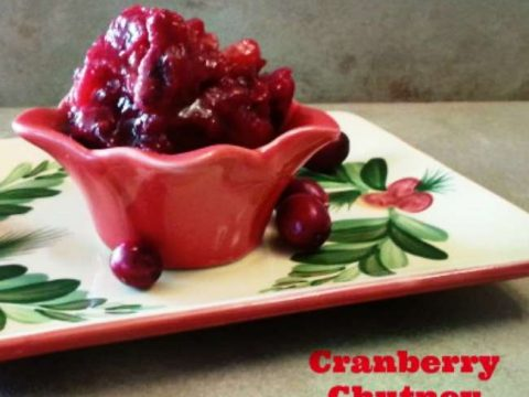 Easy Cranberry Chutney - Perfect for Thanksgiving dinner, with poultry, or over baked brie. It's deliciously simple to make.