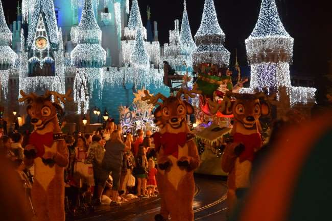 Once Uporn a Christmastime Parade during Mickey's Very Merry Christmas Party - Santa Claus's reindeer