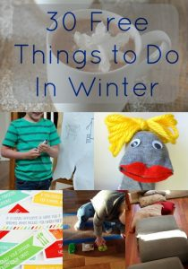 30 Free Things to Do with Kids Indoors in Winter - Prevent winter boredom and cabin fever with these fun kids activities that are great for all ages.