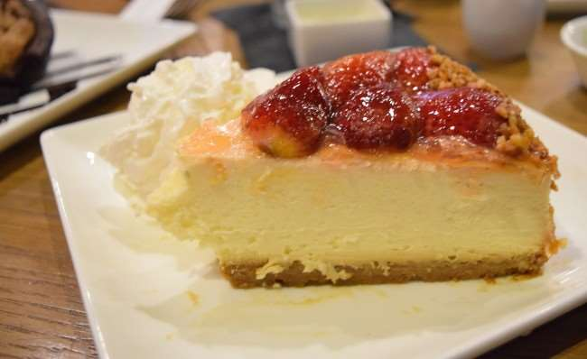 New York Style Cheesecake at Cowfish Burger and Sushi Bar
