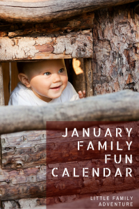 January Family Fun Calendar - Printable calendar with ideas and kids activities to help you have quality family time together