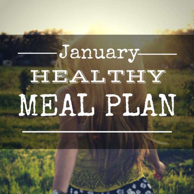 January Healthy Meal Plan - A month's worth of clean eating dinner recipes #mealplanning #menuplanner