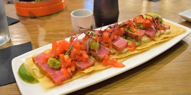 Blacked Ahi Tuna Nachos at Cowfish Burger and Sushi Bar
