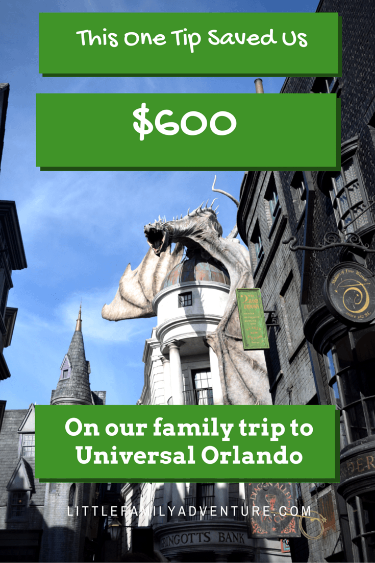 See How You Can Save Money while on Vacation = We save $600 on our Disney and Universal Orlando with this 1 tip