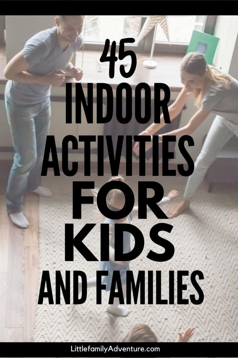 indoor activities for kids graphic