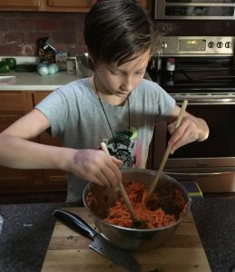 Cooking with Kids- Get kids involved in the kitchen to help them learn how to cook and make healthier food choices for themselves