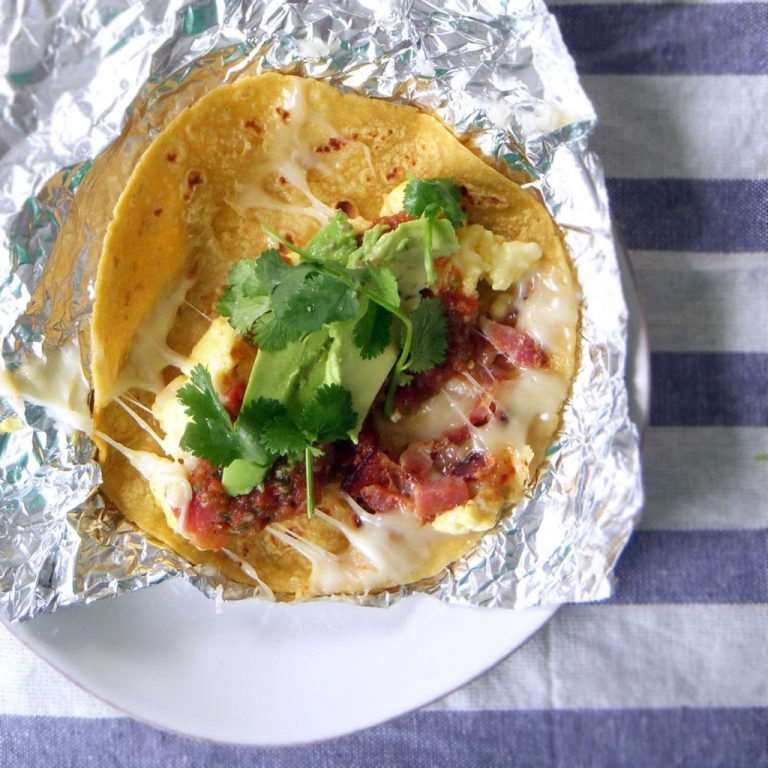 MAKE AHEAD BREAKFAST TACOS- Camping foil meals