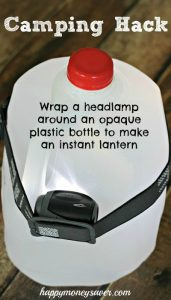 Camping Hack- Wrap a headlight around a plastic bottle #campinghack #camping