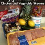 Yogurt Marinated Chicken and Vegetable Skewers