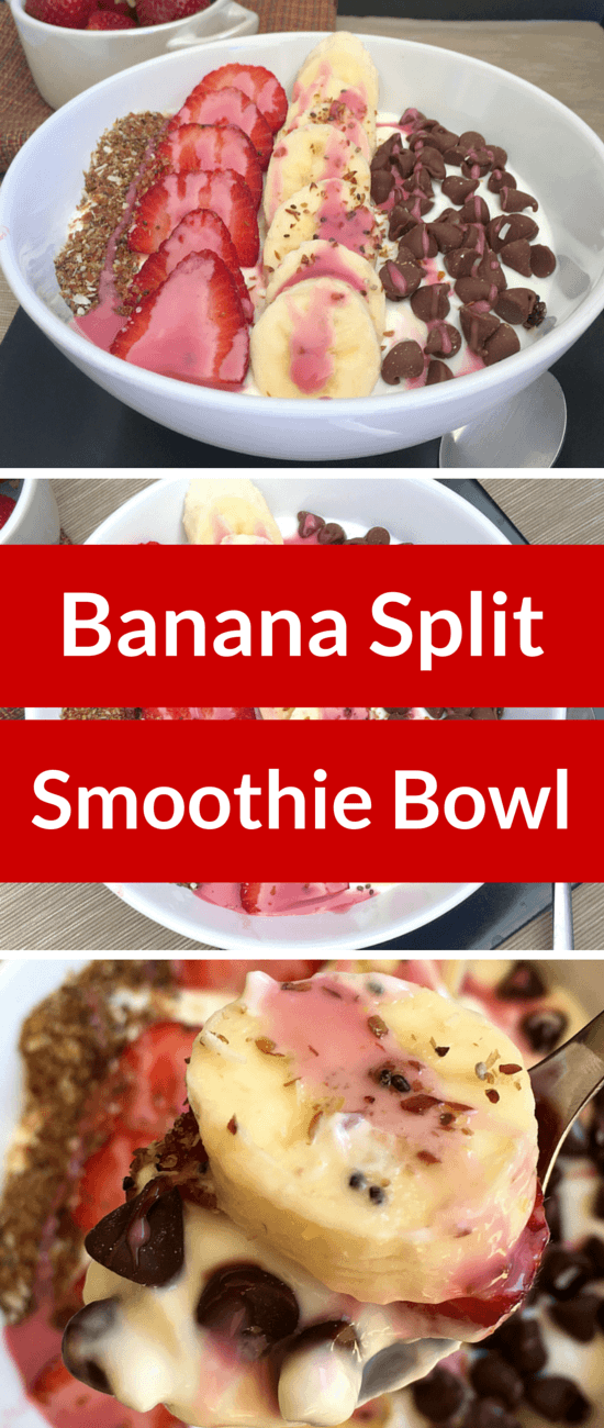 Banana Split Smoothie Bowl - Make breakfast healthy and fun with this delicious real food treat.
