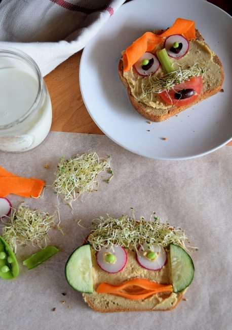 Never Make a Boring Sandwich Again with This recipe - Funny Face Veggie Sandwich