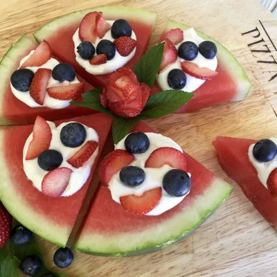 Berry Sweet Watermelon Pizza