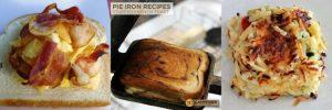 breakfast in a camper pie iron