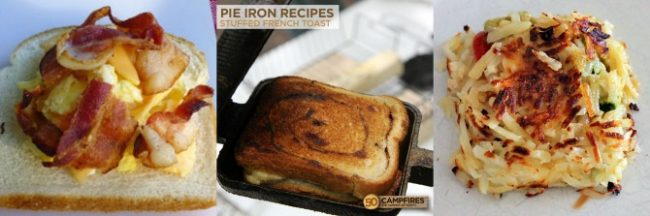 breakfast in a camper pie iron