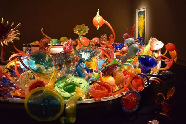 Boat full of Chihuly art glass