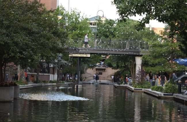 Oklahoma City Bricktown Canal view of the water